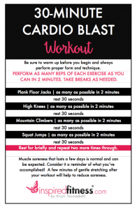 Inspired Cardio Blast Workout